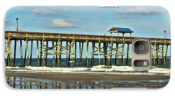Galaxy Case featuring the photograph Reflection Pier by Paula Porterfield-Izzo