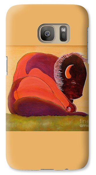 Galaxy Case featuring the painting Reflecting Buffalo by Joseph J Stevens