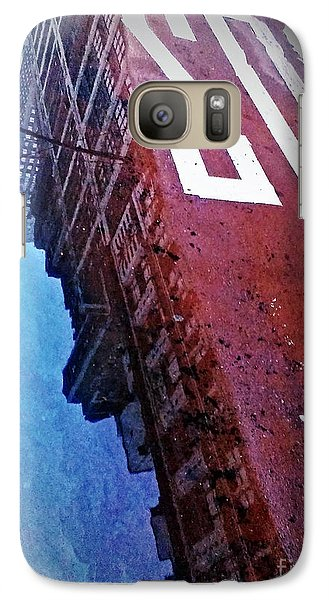 Galaxy Case featuring the photograph Reflecting On City Life by James Aiken