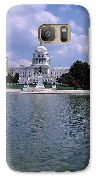 Reflecting Pool With A Government Galaxy S7 Case by Panoramic Images