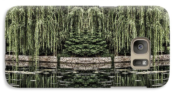Galaxy Case featuring the photograph Reflecting Willows by Rebecca Hiatt