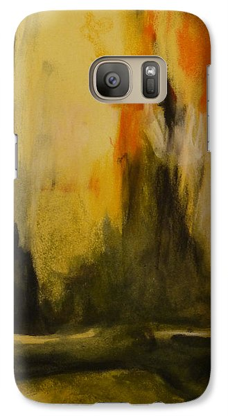 Galaxy Case featuring the painting Reflection 1 by Nadine Dennis