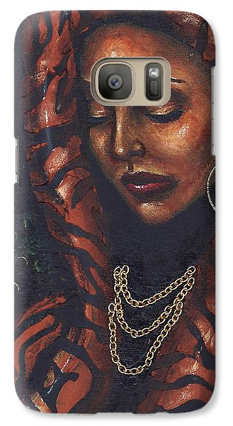 Galaxy Case featuring the painting Reflection And Solitude by Alga Washington