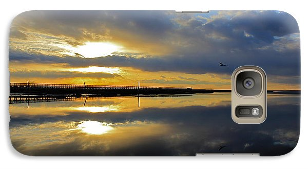 Galaxy Case featuring the photograph Reflection Grays Beach Boardwalk by Amazing Jules
