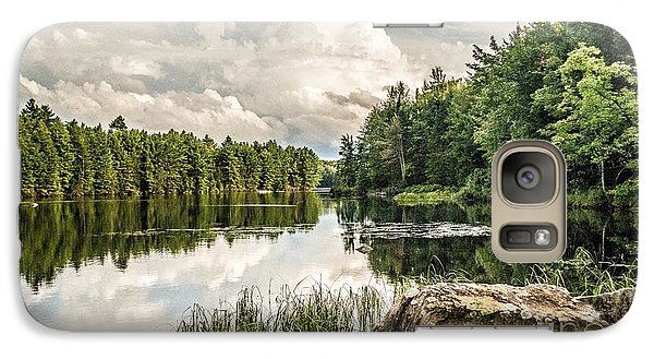 Galaxy Case featuring the photograph Reflection Lake In New York by Debbie Green