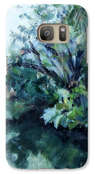 Galaxy Case featuring the painting Reflection by Mary Lynne Powers