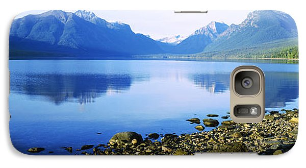 Reflection Of Rocks In A Lake, Mcdonald Galaxy Case by Panoramic Images