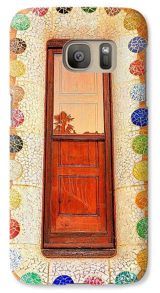 Galaxy Case featuring the photograph Reflection On Gaudi by Nigel Fletcher-Jones