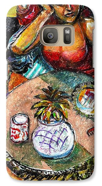 Galaxy Case featuring the drawing Reflection by Stan Esson