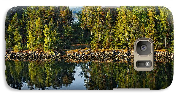 Galaxy Case featuring the photograph Reflections 1 Sweden by Marianne Campolongo