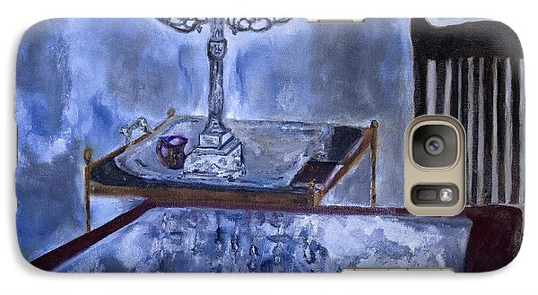 Galaxy Case featuring the painting Reflections by Aleezah Selinger