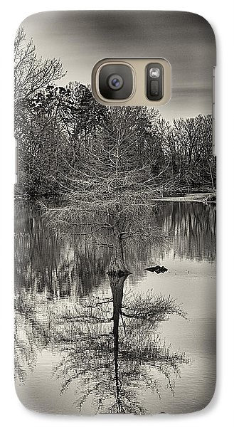 Galaxy Case featuring the photograph Reflections In Black And White by Yvonne Emerson AKA RavenSoul