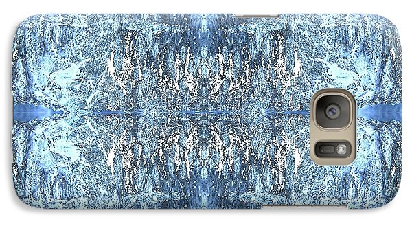 Galaxy Case featuring the digital art Reflections In Blue by Stephanie Grant