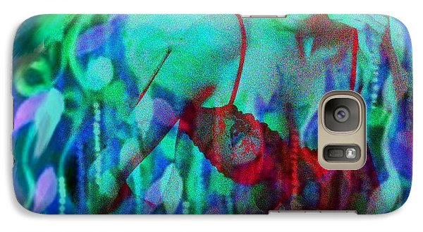 Galaxy Case featuring the digital art Reflections In Floral And Red by Diana Riukas
