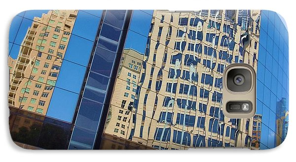 Galaxy Case featuring the photograph Reflections In The Rolex Bldg. by Robert ONeil