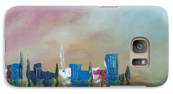 Galaxy Case featuring the painting Reflections In The Sand by Conor Murphy
