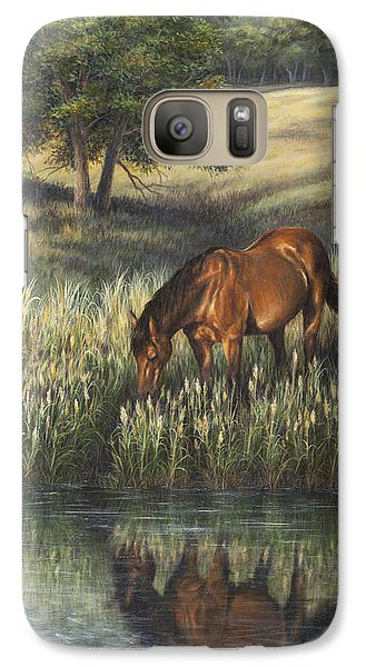Galaxy Case featuring the painting Reflections by Kim Lockman