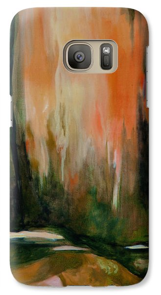 Galaxy Case featuring the painting Reflections by Nadine Dennis
