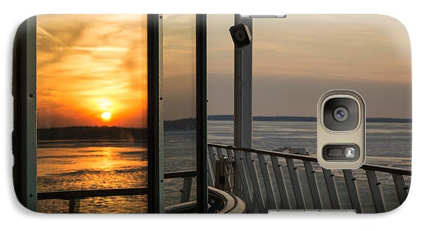 Galaxy Case featuring the photograph Reflections Of A Chesapeake Sunset by Bill Swartwout