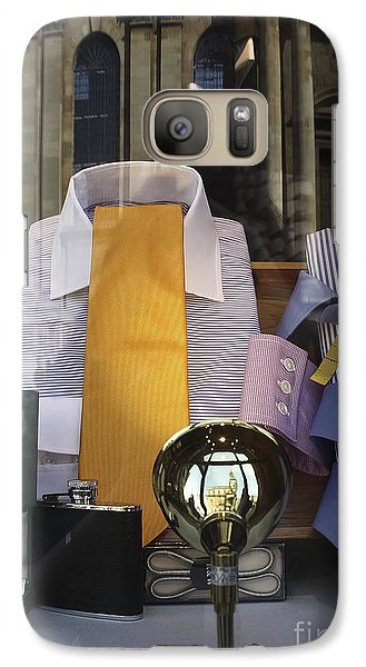 Galaxy Case featuring the photograph Reflections Of A Gentleman's Tailor by Terri Waters