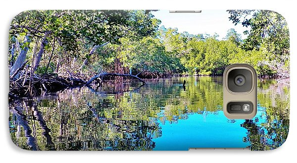 Galaxy Case featuring the photograph Reflections Of An Island by Judy Via-Wolff