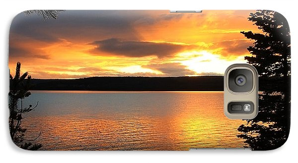 Galaxy Case featuring the photograph Reflections Of Sunset by Athena Mckinzie