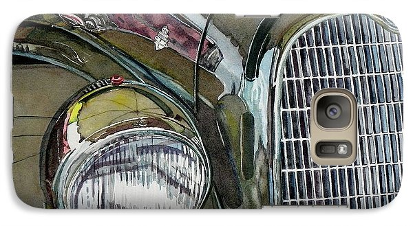Galaxy Case featuring the painting Reflections On 1931 Alfa Romeo Milano by Anna Ruzsan