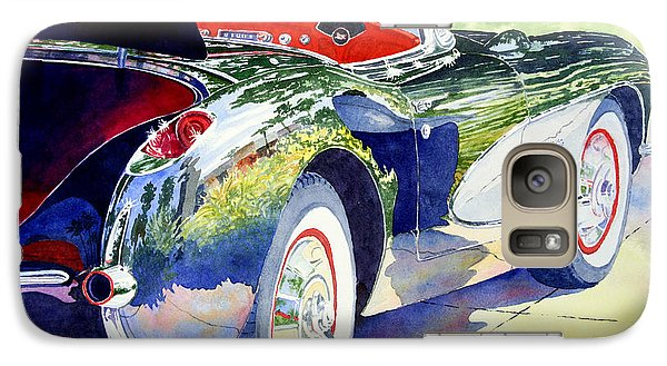 Galaxy Case featuring the painting Reflections On A Corvette by Roger Rockefeller