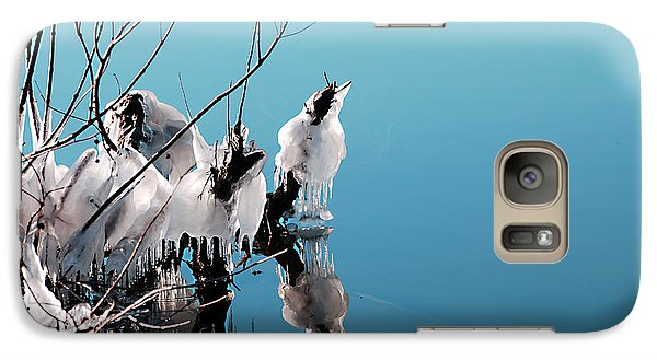Galaxy Case featuring the photograph Reflections On Ice by Linda Cox