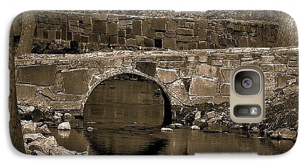 Galaxy Case featuring the photograph Reflective Bridge by Tara Potts