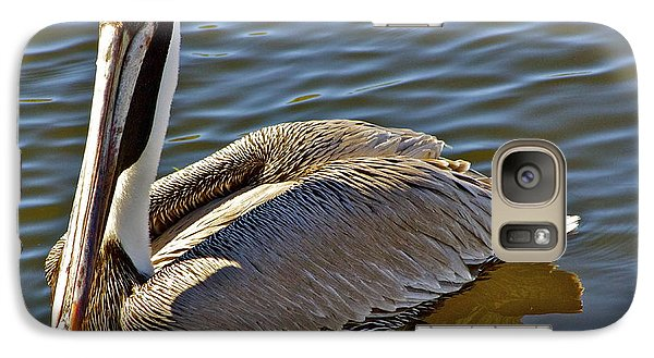 Galaxy Case featuring the photograph Reflective Pelican by Alice Mainville