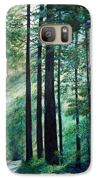 Galaxy Case featuring the painting Refuge by Kathleen McDermott