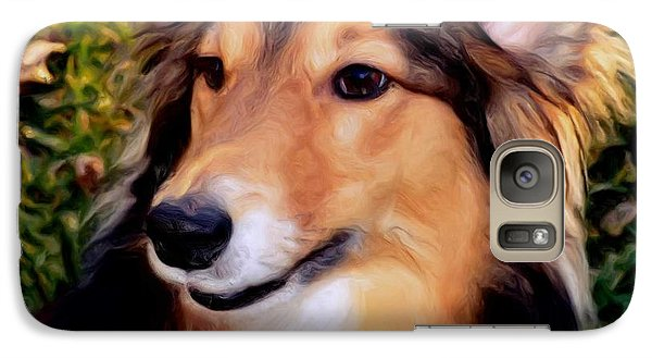 Galaxy Case featuring the photograph Dog - Collie - Regal Shelter Dog by Luther Fine Art