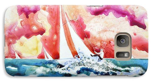 Galaxy Case featuring the painting Regatta by Joan Hartenstein