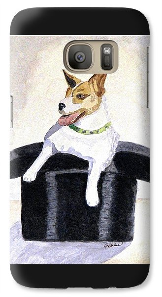 Galaxy Case featuring the painting Reggie In A Top Hat  by Angela Davies
