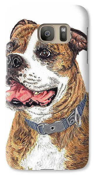 Galaxy Case featuring the painting Reggie by Val Miller