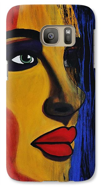 Galaxy Case featuring the painting Reign Over Me 2 by Michael Cross