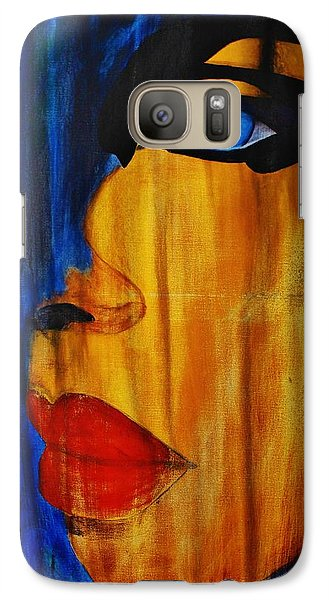 Galaxy Case featuring the painting Reign Over Me 3 by Michael Cross