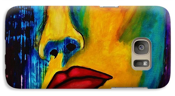 Galaxy Case featuring the painting Reign Over Me by Michael Cross