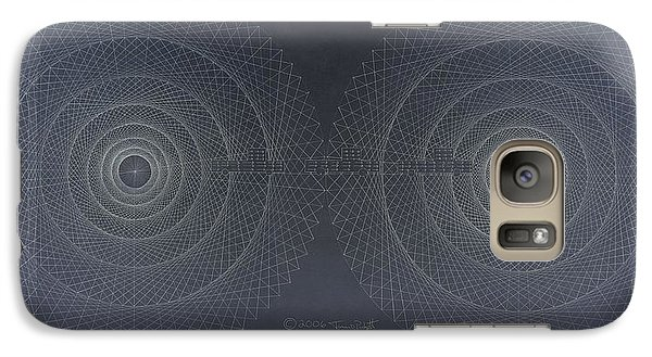 Galaxy Case featuring the drawing Relativity by Jason Padgett