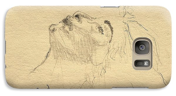 Galaxy Case featuring the drawing Relaxation by Rand Swift