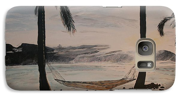 Galaxy Case featuring the painting Relaxing At The Beach by Ian Donley