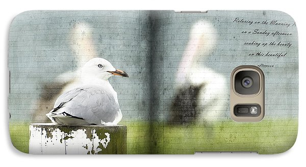 Galaxy Case featuring the photograph Relaxing By The River 01 by Kevin Chippindall