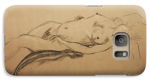 Galaxy Case featuring the digital art Relaxing Nude by Gabrielle Schertz