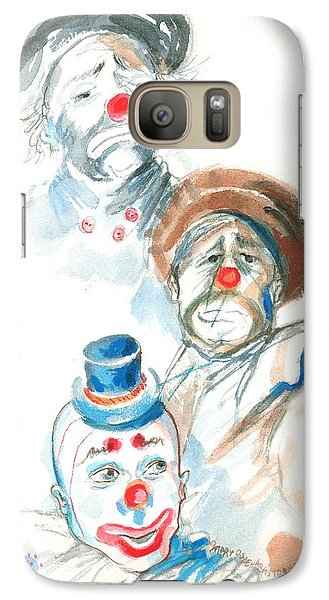 Galaxy Case featuring the painting Remember The Clowns by Mary Armstrong