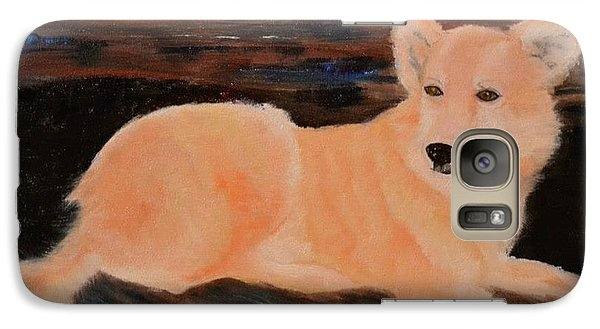 Galaxy Case featuring the painting Remembering Bailey by Denise Tomasura