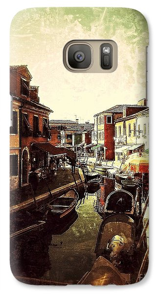Galaxy Case featuring the digital art Remembering Burano by Delona Seserman