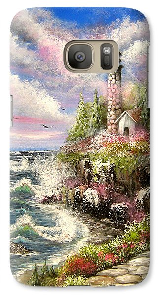 Galaxy Case featuring the painting Remembering by Patrice Torrillo