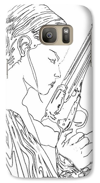 Galaxy Case featuring the digital art Remembering The Face Of Our Father Iced Edtion by Justin Moore