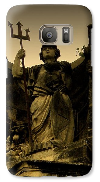 Galaxy Case featuring the photograph Trident To The Sky by Salman Ravish